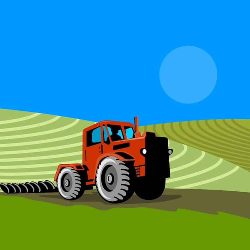 cartoon style tractor