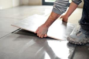 install floor tiles